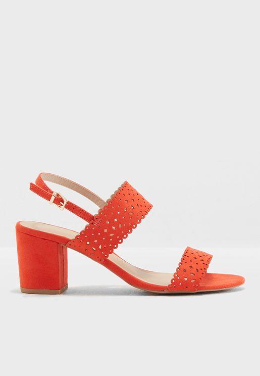 Orange Sugar Lazercut Sandals