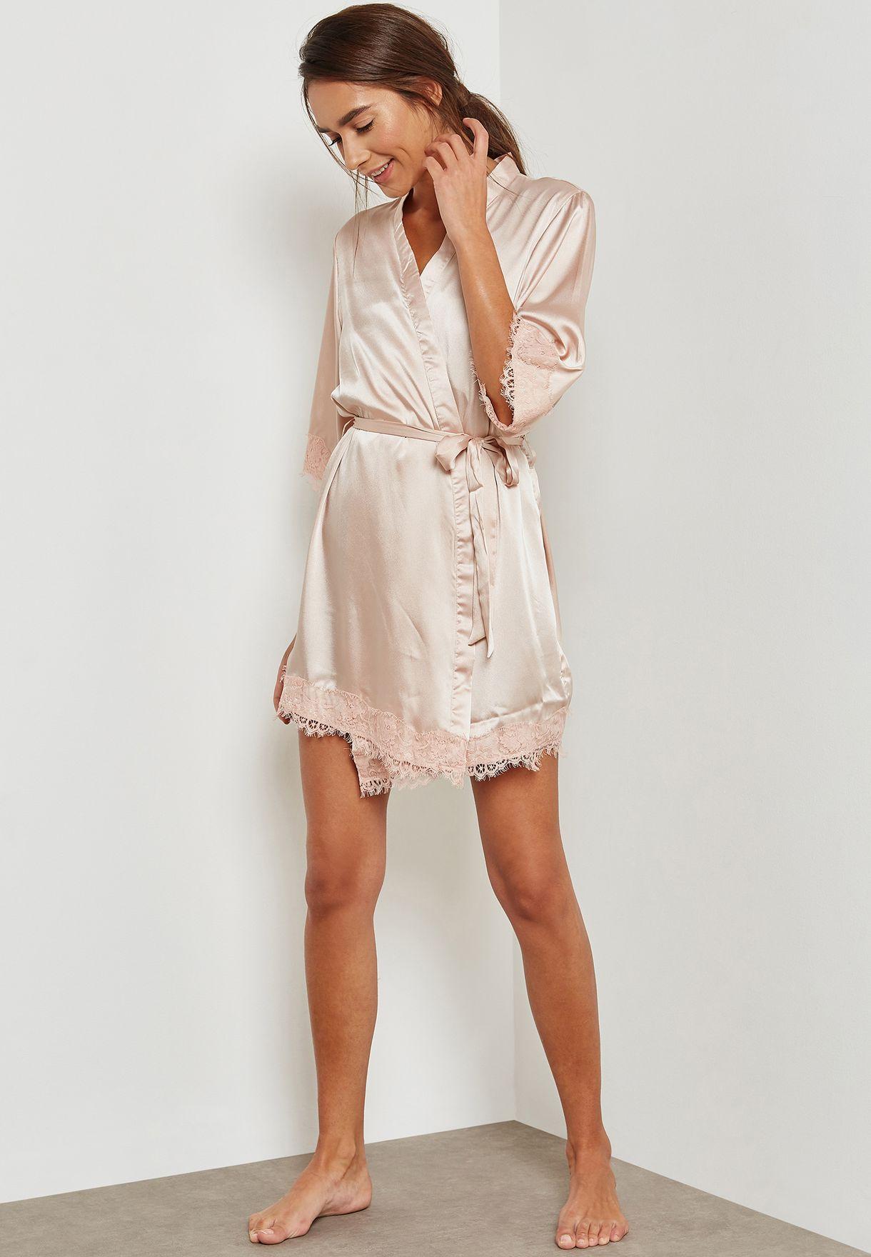 c68239e8 Shop Dorothy Perkins beige Glitter Robe 33130855 for Women in UAE ...