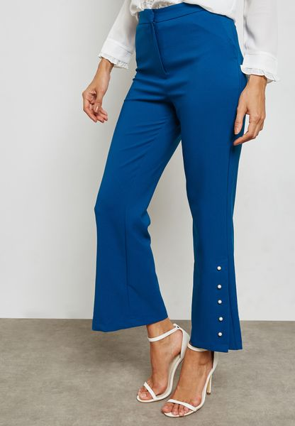Pearl Side Slit Pants