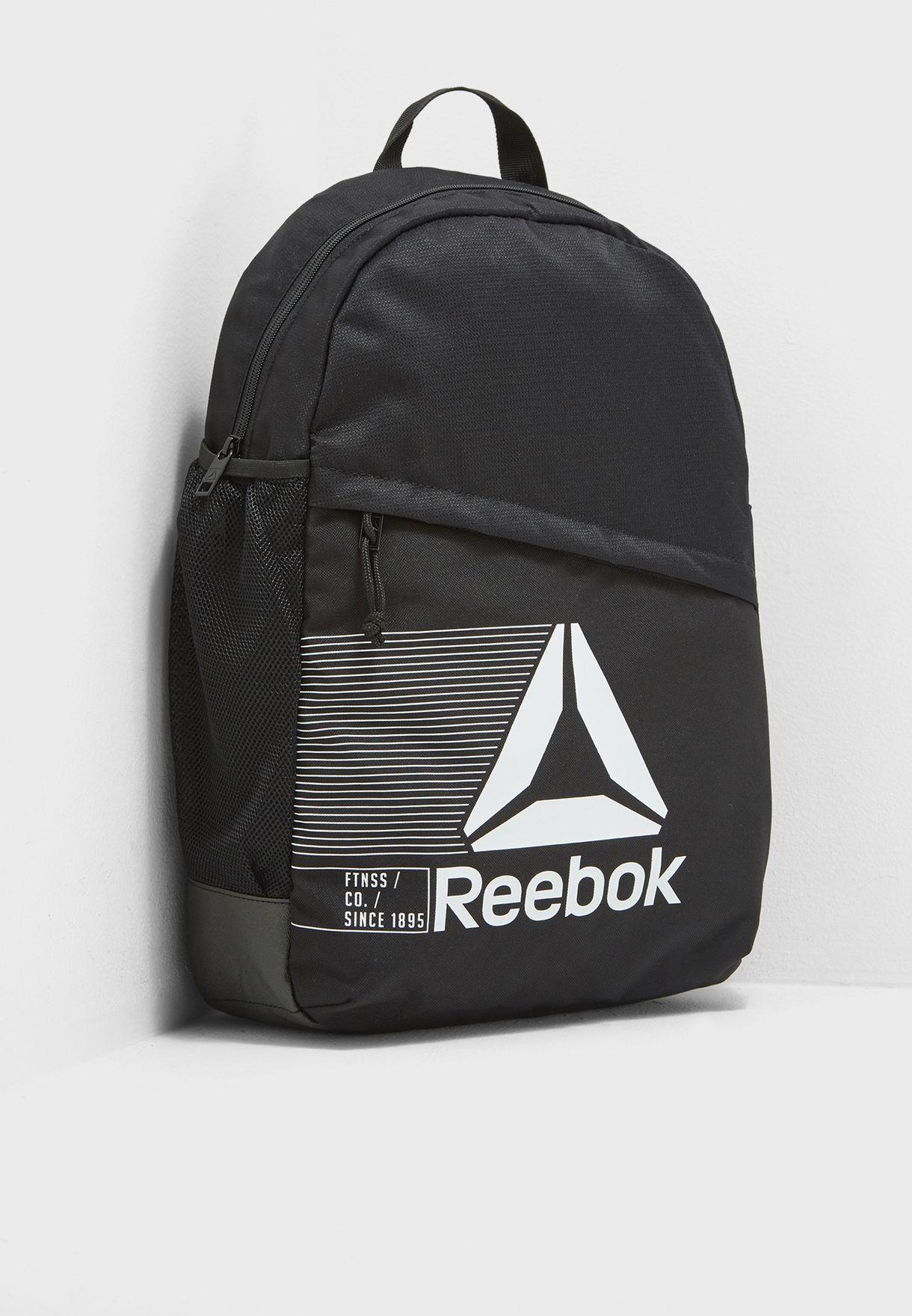 Shop Reebok black Active Logo Backpack CE0926 for Men in UAE ... 2e3ab767f