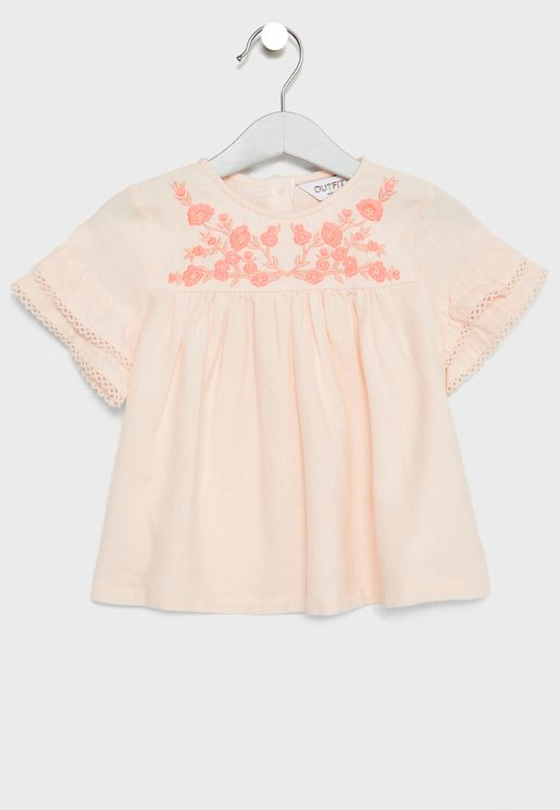 Infant Frill Sleeve Top