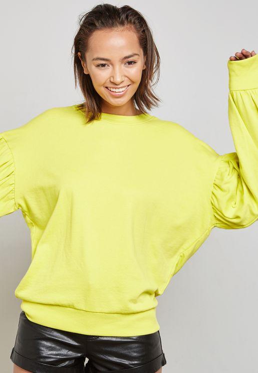 Oversized Balloon Sleeve Sweater