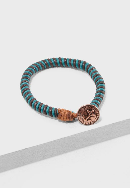 Cord Bracelet With Burnis