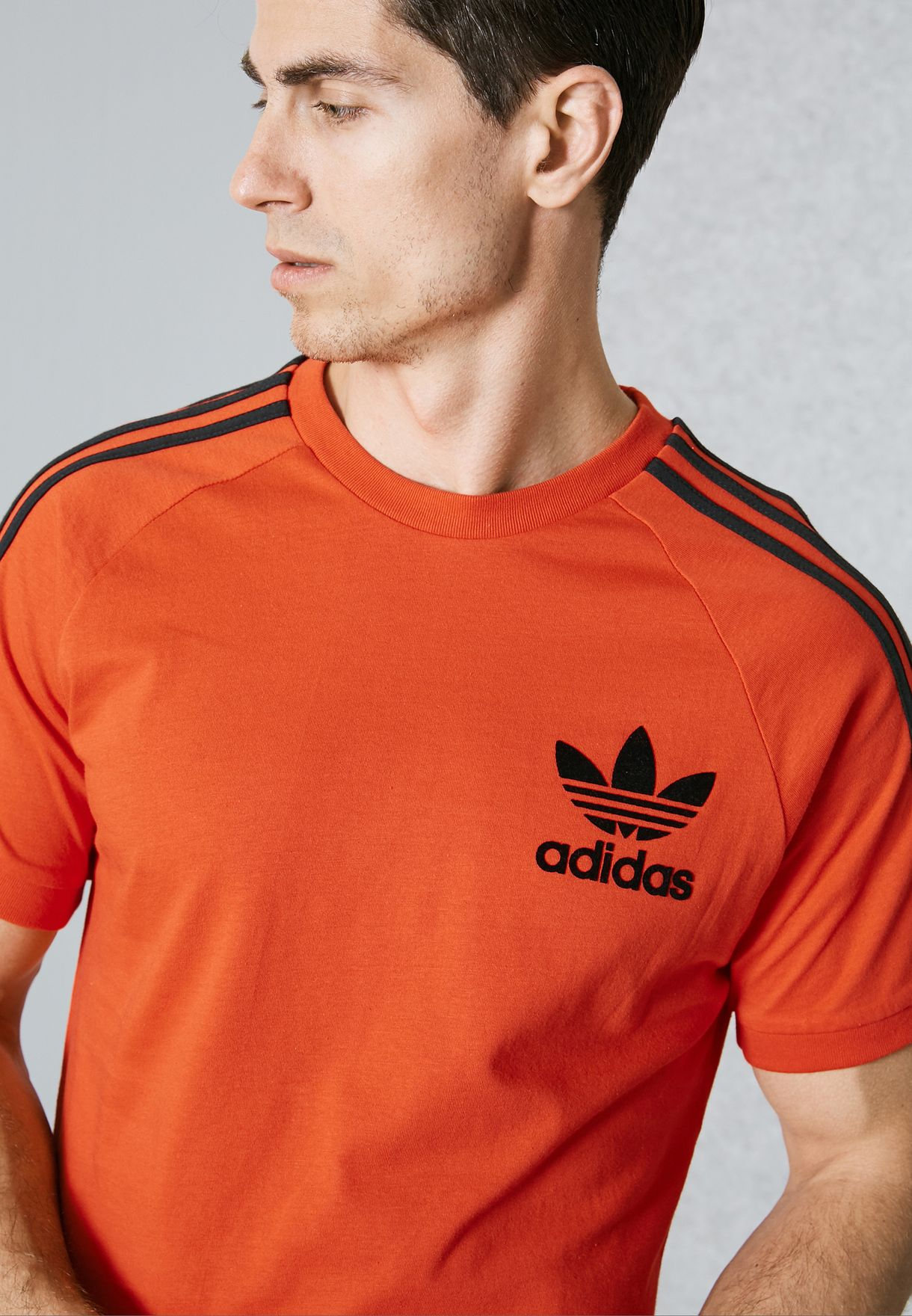 00b1b2a72b0 Shop adidas Originals orange California T-Shirt BK7544 for Men in ...
