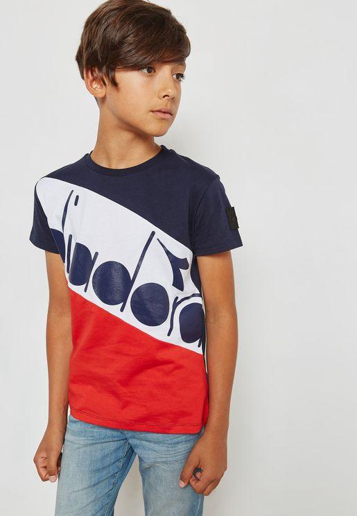Color Block Logo T-Shirt