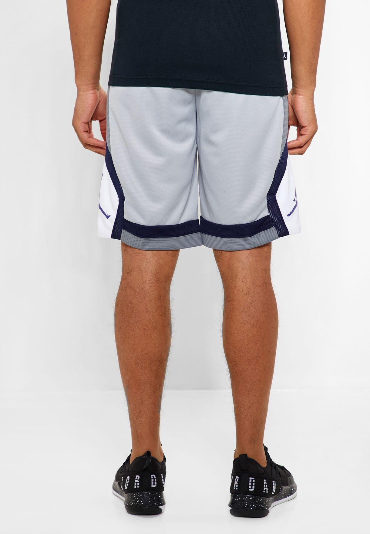 68951fe588b Shop Nike grey Jordan Rise Shorts 924562-078 for Men in Globally ...