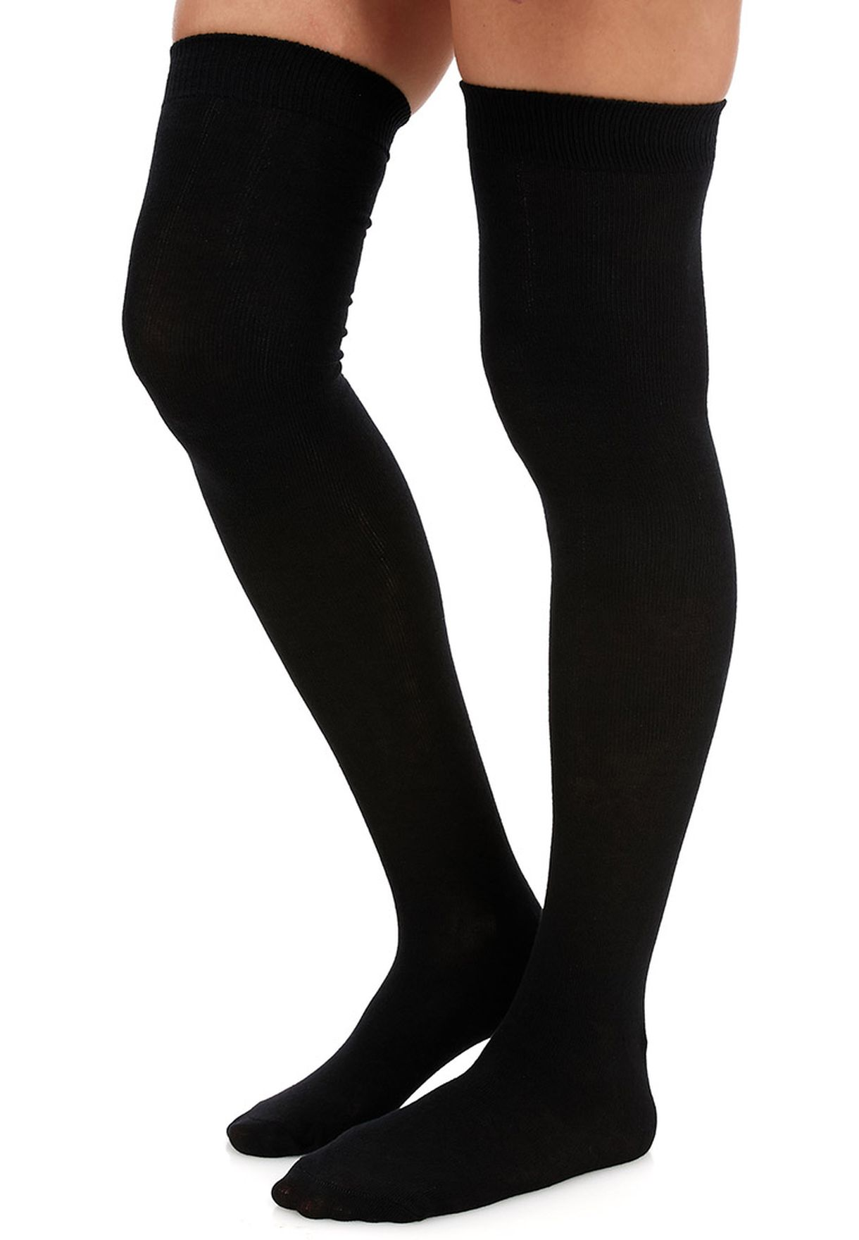 f39f3eccc Shop Gipsy black Plain Over Knee Socks for Women in Saudi - GI314AT89PYS