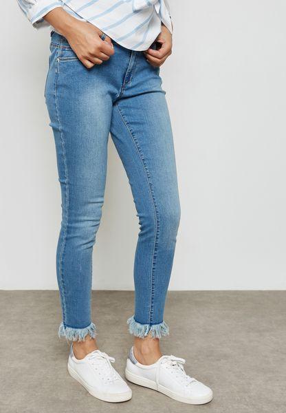 Ankle Hem Skinny Jeans