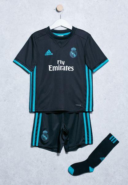 Kids Real Madrid Away T-Shirt + Shorts Set
