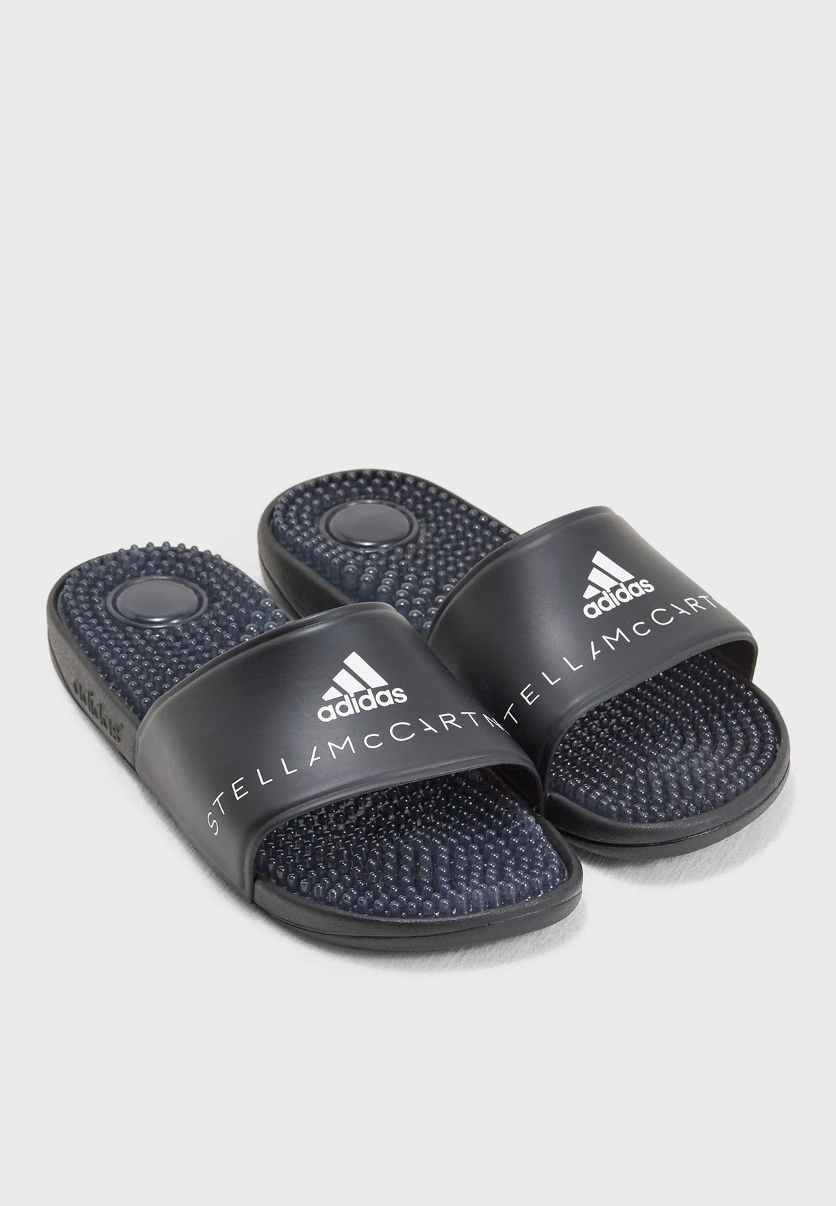 b6bb05519643 Shop adidas by Stella McCartney black Adissage Slides AC8200 for ...