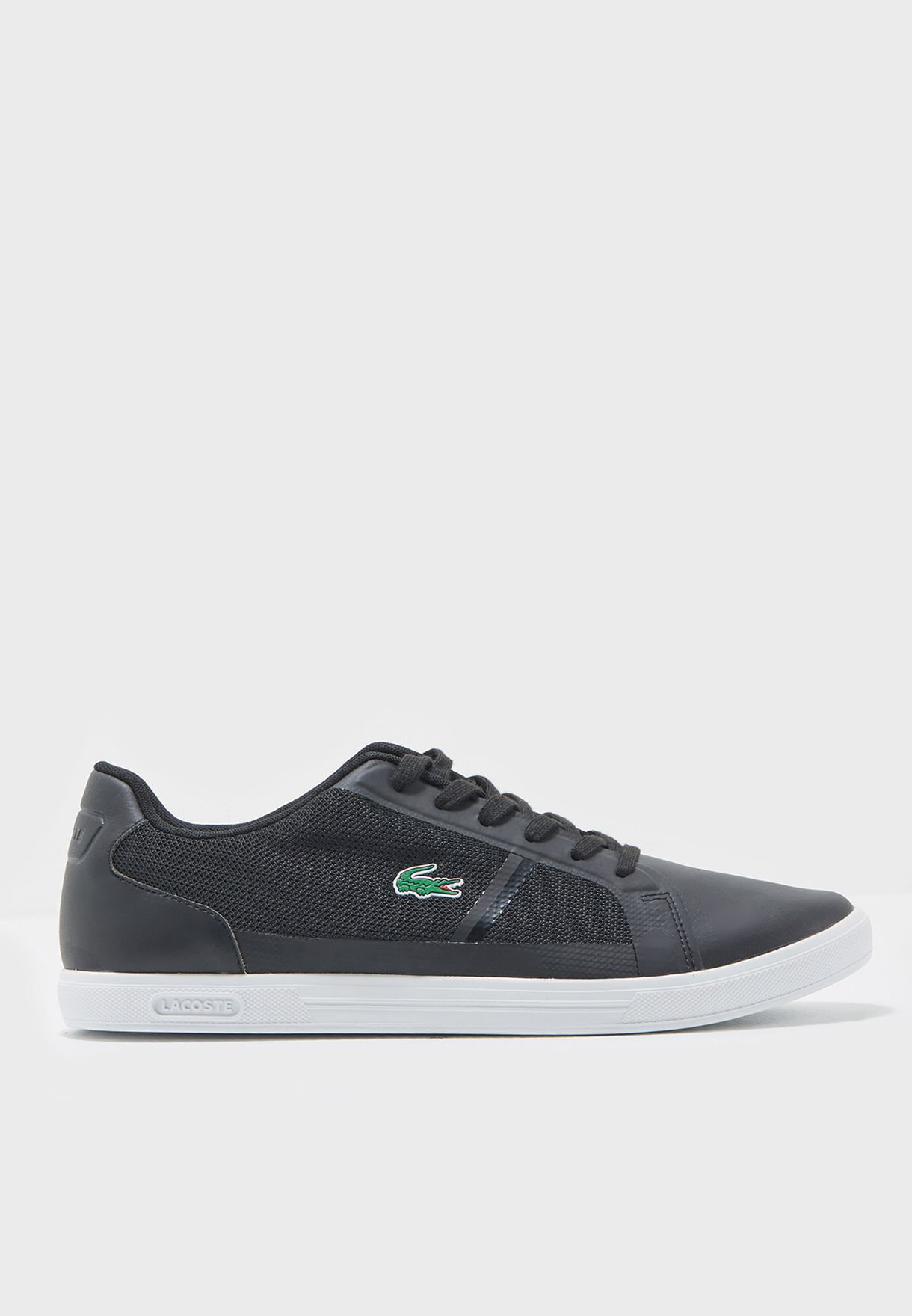 900593043fa7 Shop Lacoste black Strideur Logo Sneakers 31SPM0013-024 for Men in Oman -  LA014SH89EQW