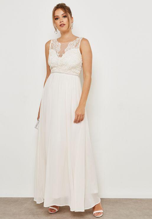 Lace Mesh Top Dress