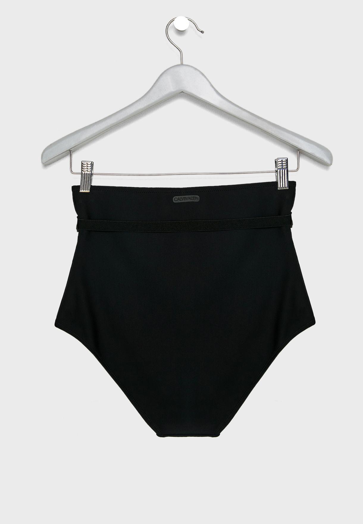 803c67519fb2c Shop Calvin Klein black High Waisted Bikini Bottom KW0KW00507 for ...