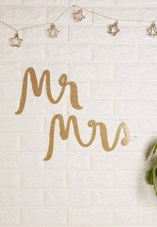 Mr. & Mrs. Bridal Chair Signs