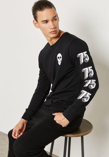 75 Skull Print T-Shirt