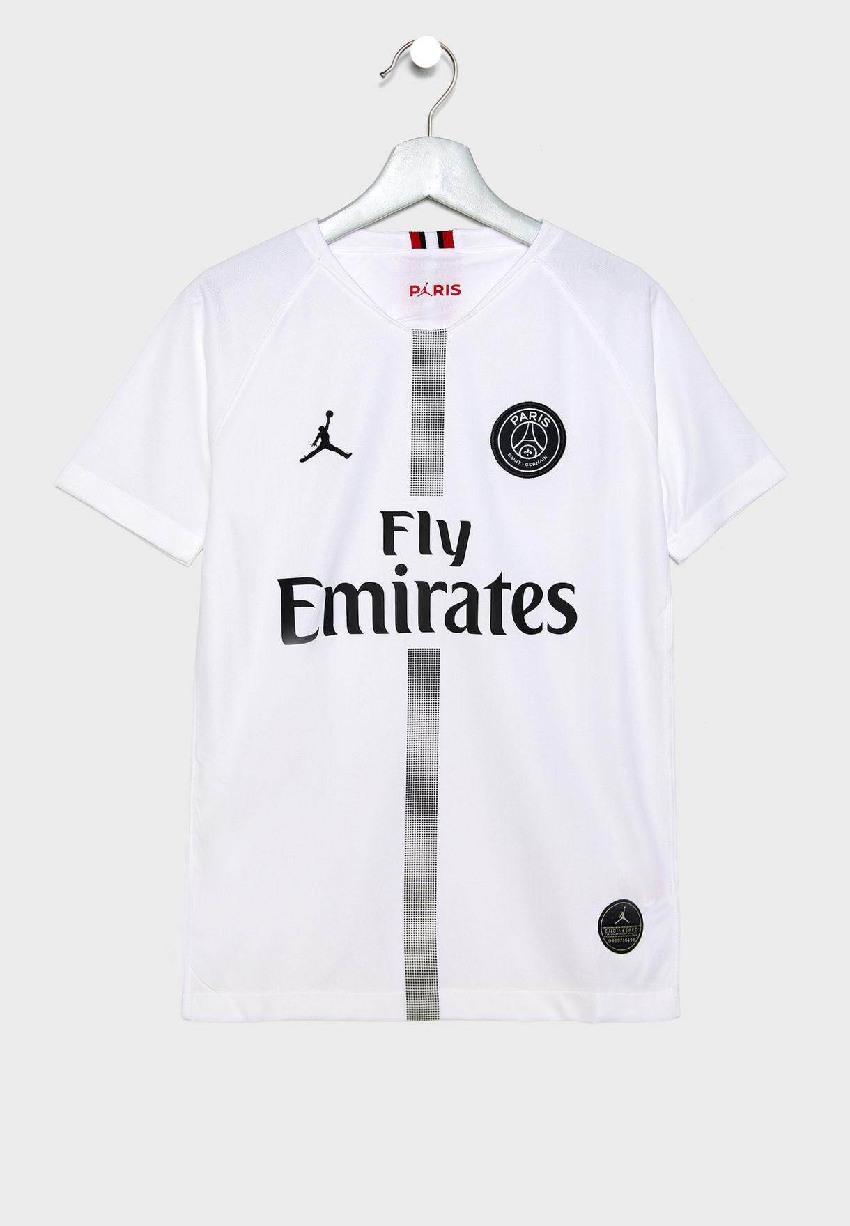 0145b13cafe4 Shop Nike monochrome Youth PSG 3rd Stadium T-Shirt 919253-102 for ...