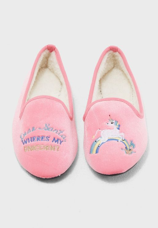 Santa Unicorns Slip On
