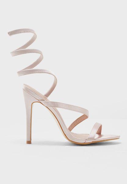 Velvet Wrap Sandals