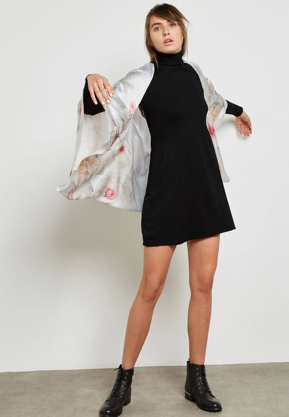 208a6b342127 Shop Ted baker prints Chelsea Cape Scarf 137290LT-GREY for ...