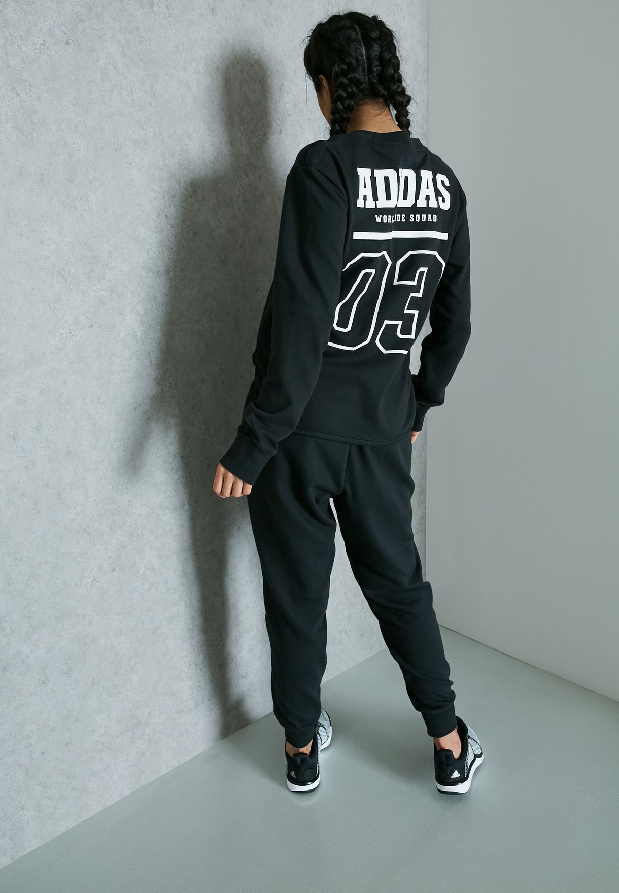 2a3fcc7b728 Shop adidas black Chill Out Tracksuit BK4687 for Women in UAE ...