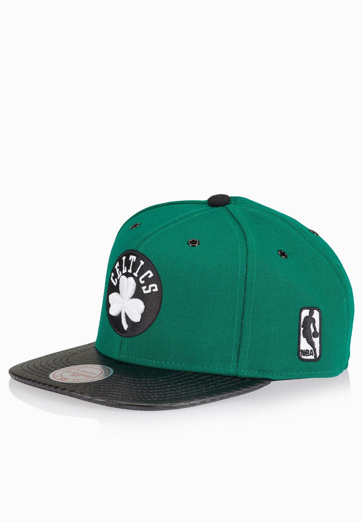 ef9fdad1 Shop Mitchell Ness green Boston Celtics Snapback EU501 for Men in ...