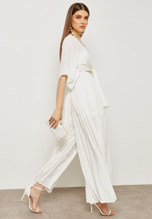Front Tie Palazzo Jumpsuit