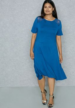 Cobalt Fit And Flare Dress