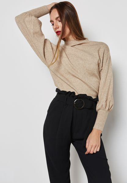 Cuffed Sleeve Sweater