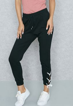 Lace Up Side Joggers