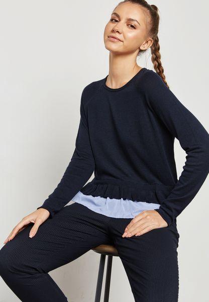 Frill Overlay Sweater