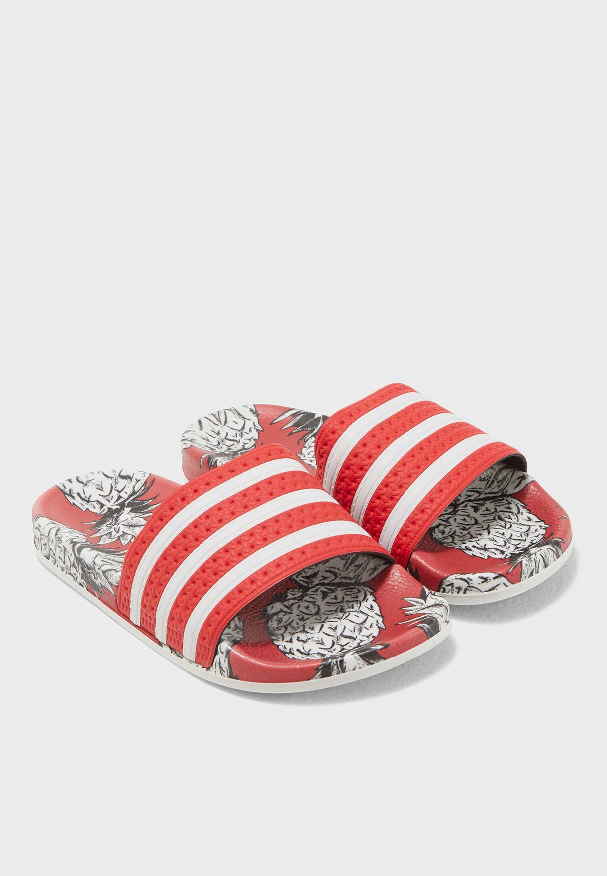 08784bcb3 Shop adidas Originals multicolor Adilette Slides D96683 for Women in ...