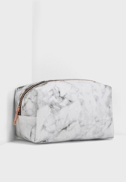 Marble Made Up Cosmetic Case