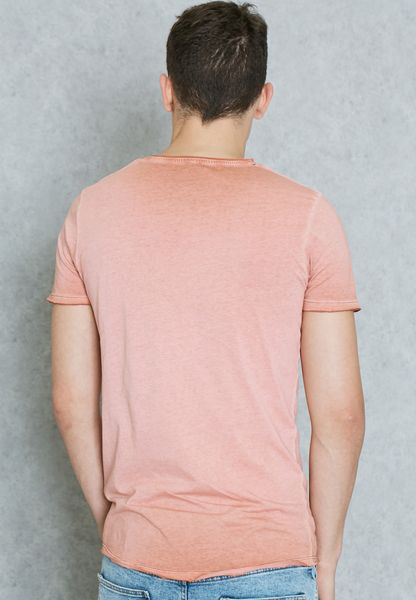 38c78b78827b free shipping Shop Jack Jones vintage pink Basic TShirt 12103171 for Men in  UAE