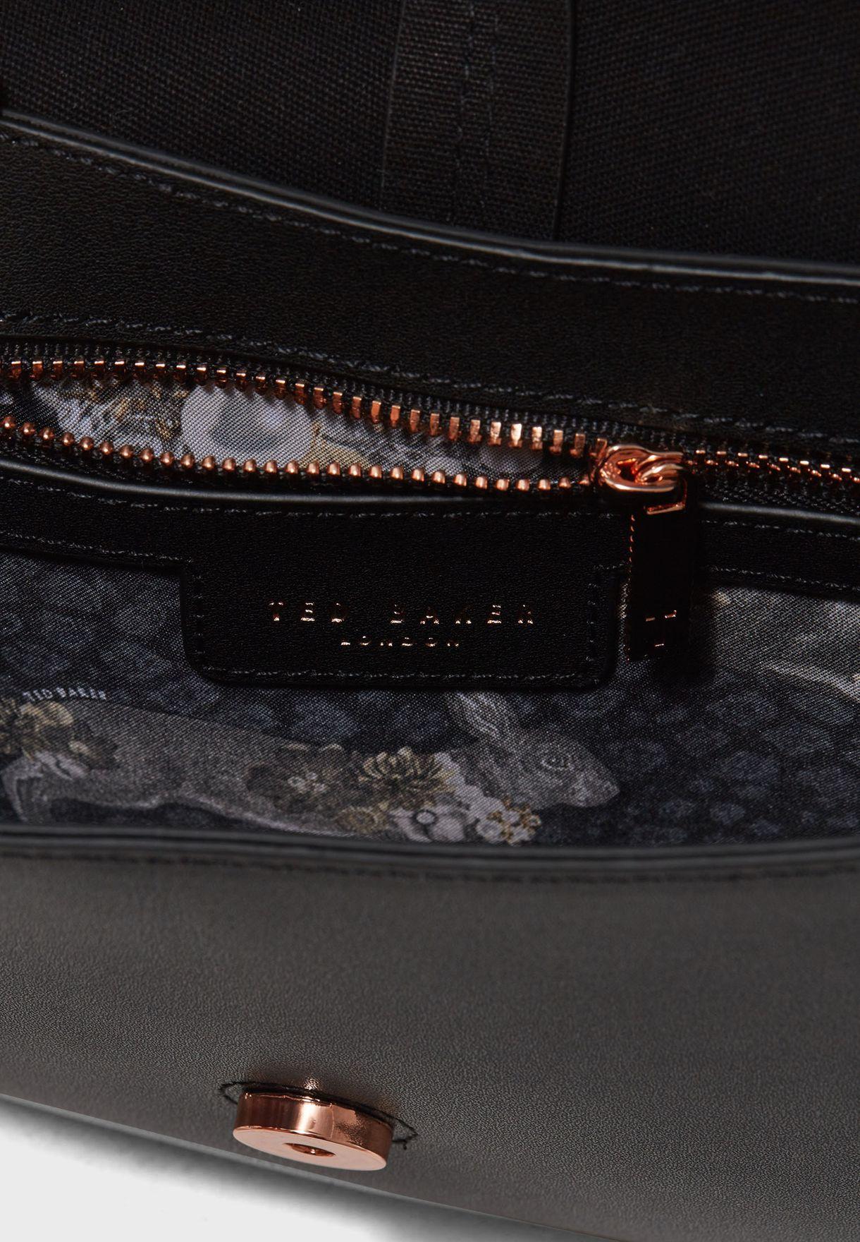 0b013c702 Shop Ted baker black Chriiss Crystal Stud Cat Crossbody 144631 for ...