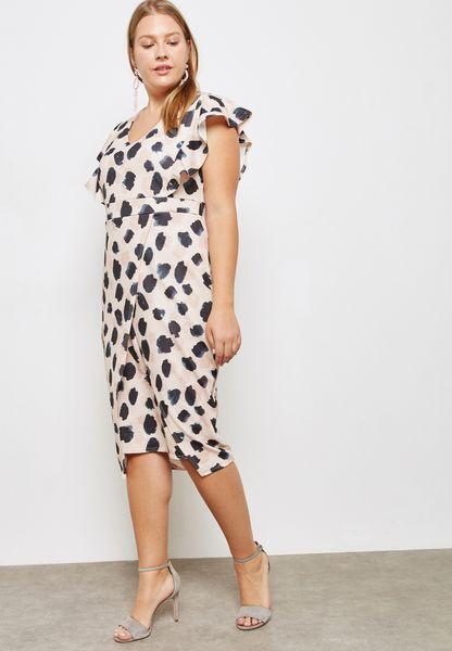 Spot Print Dress