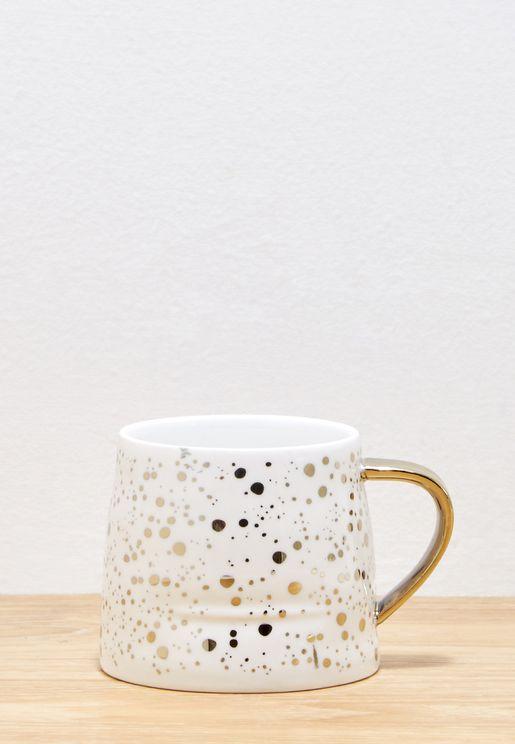 Speckled Mug With Gold Handle