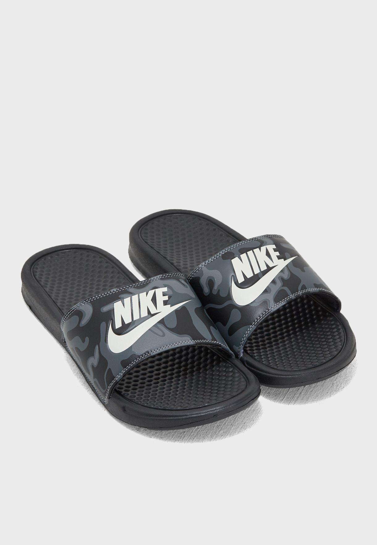 90e7edb56 Shop Nike black Benassi JDI Print 631261-013 for Men in UAE ...