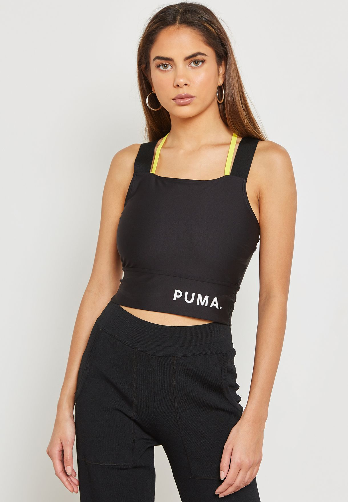 75a324f4fc0143 Shop PUMA black Chase Cropped Top 57803301 for Women in UAE ...