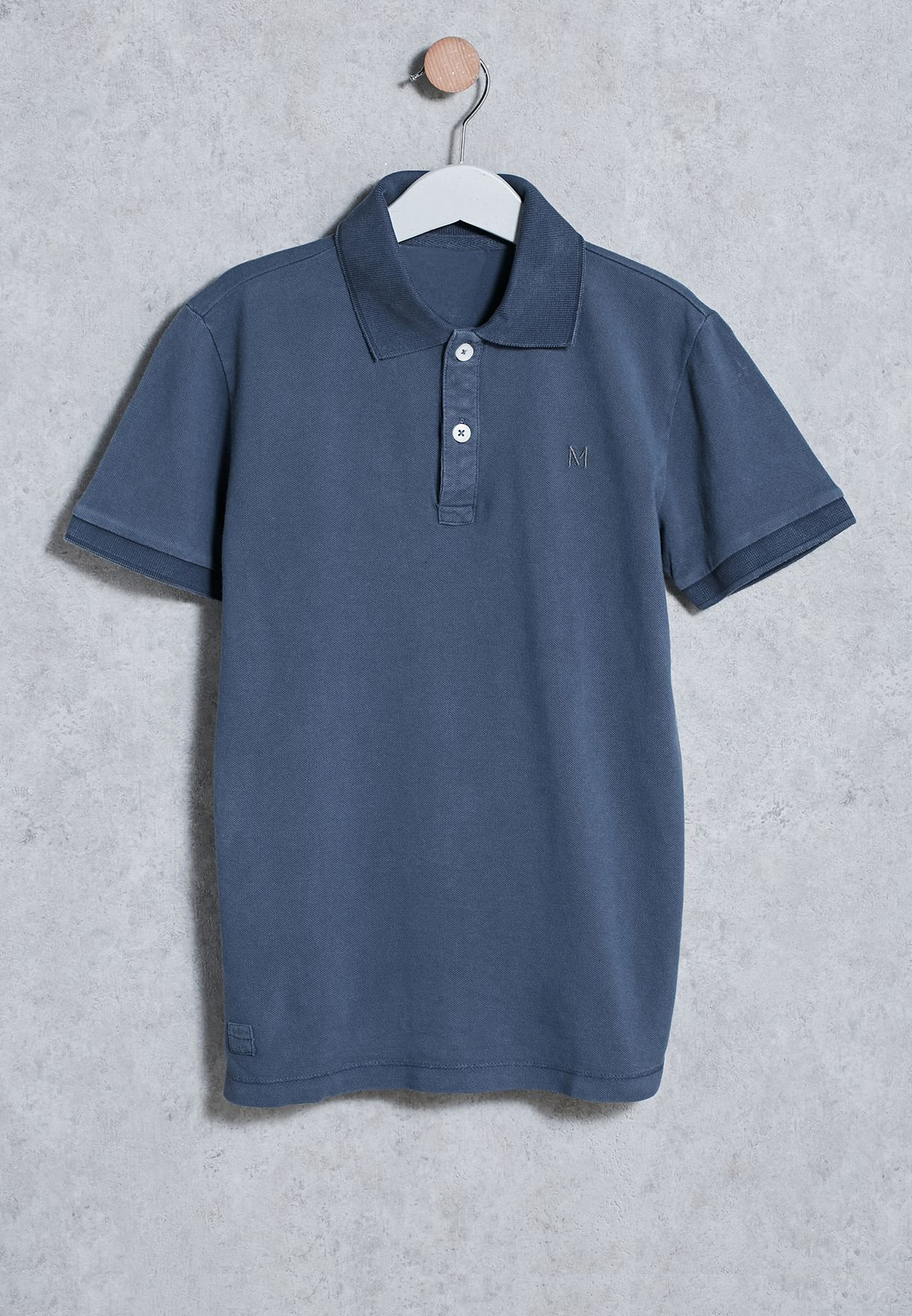 f1baf5976 Shop Mango navy Kids Pino Polo 83043513 for Kids in Qatar - MA887AT79UEI