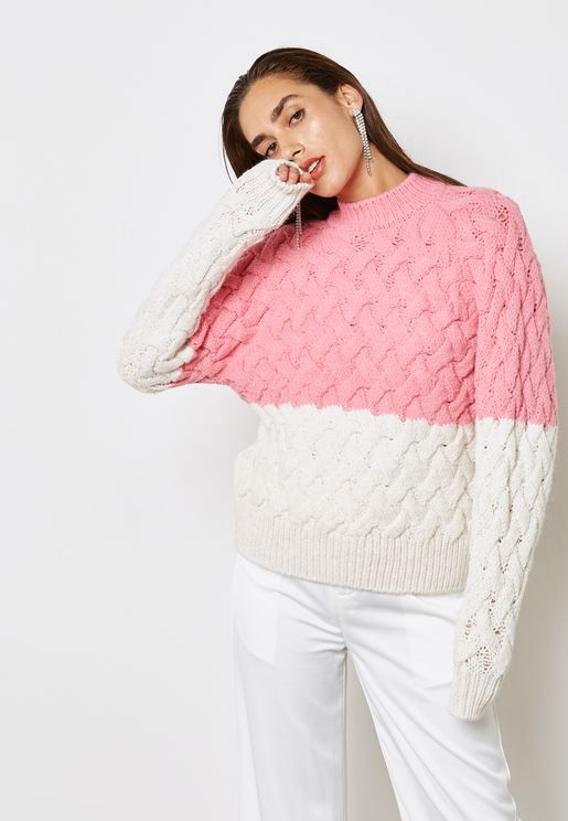 Colourblock Knitted Sweater