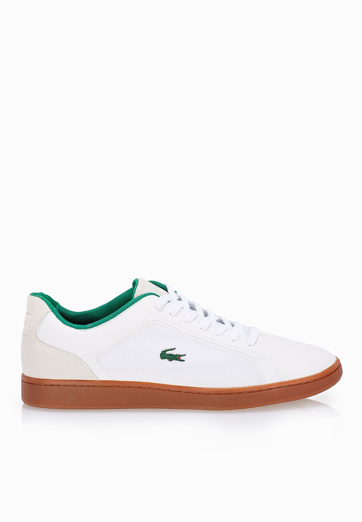 54737ef77 Shop Lacoste white Endliner 116 3 Sneakers 31SPM0041-001 for Men in ...