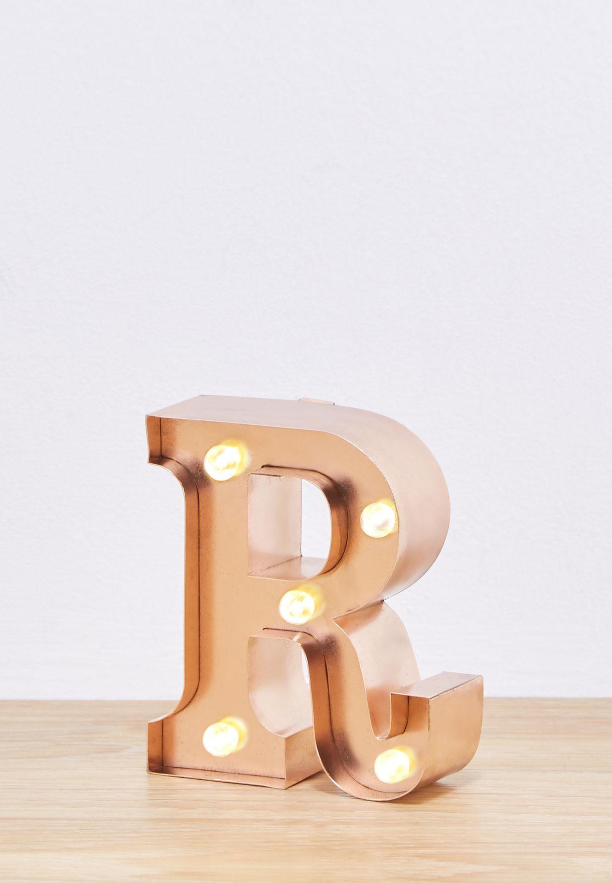 """وحدة اضاءة صغيرة بشكل حرف """"R"""""""
