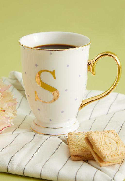 S Alphabet Spotty Mug