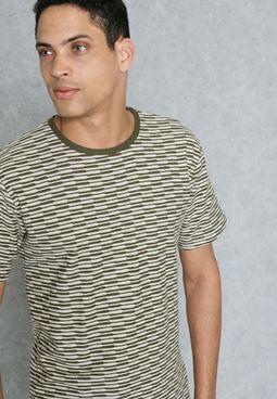 Long Line Curved Hem T-Shirt