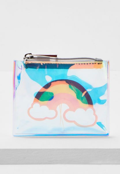 Cloud And Rainbow Clear Zip Top