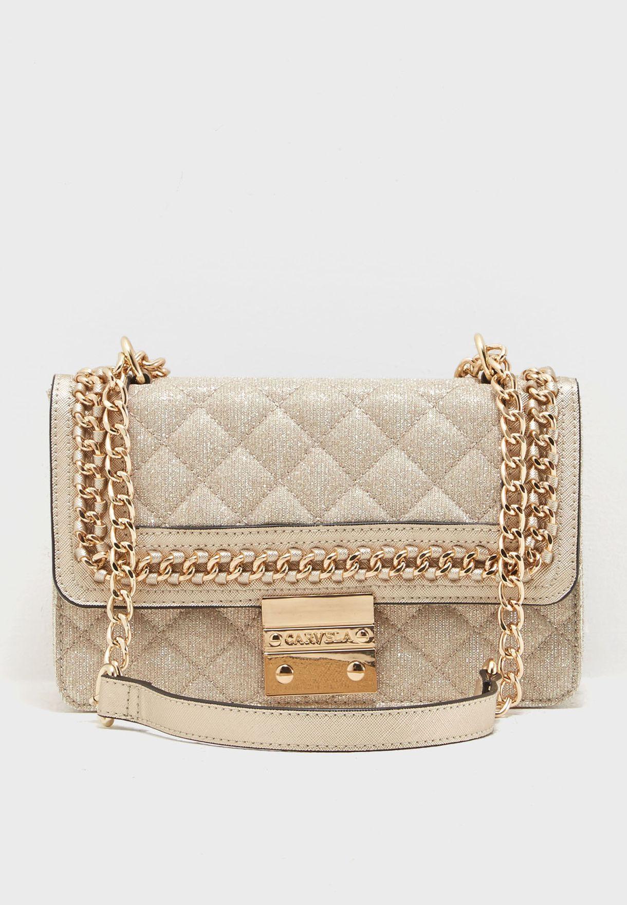 Shop Carvela Kurt Geiger gold Bailey Crossbody BAILEY for Women in ... 720e3b3b6b0e4