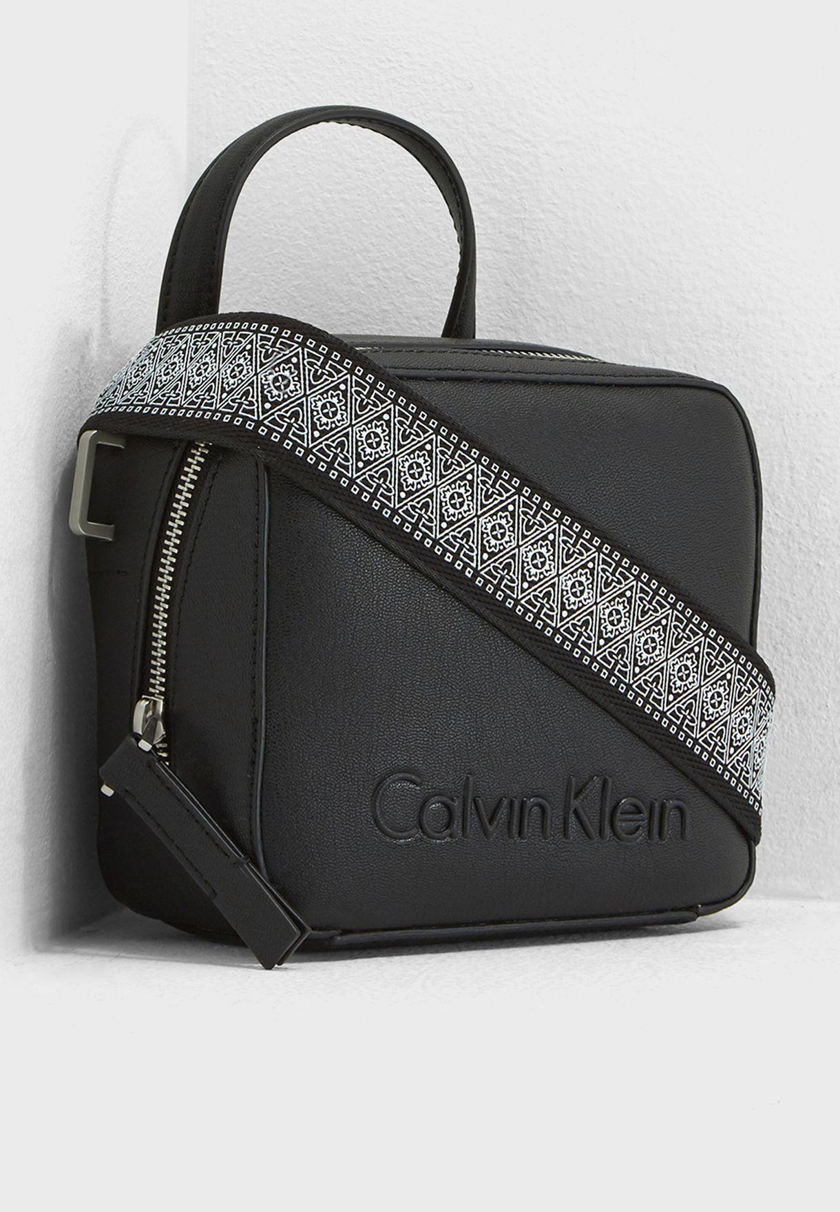 74214b76e7 Shop Calvin Klein black Small Edge Seasonal Crossbody K60K604002 for ...
