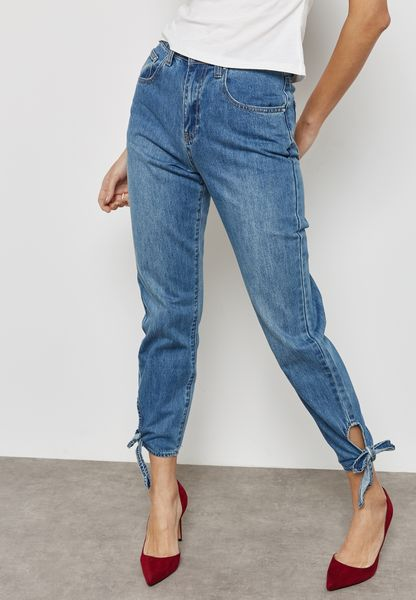 Cut Out Mom Jeans