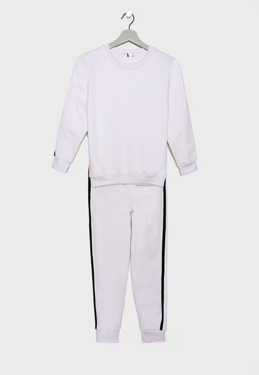 Kids Side Tape Tracksuit
