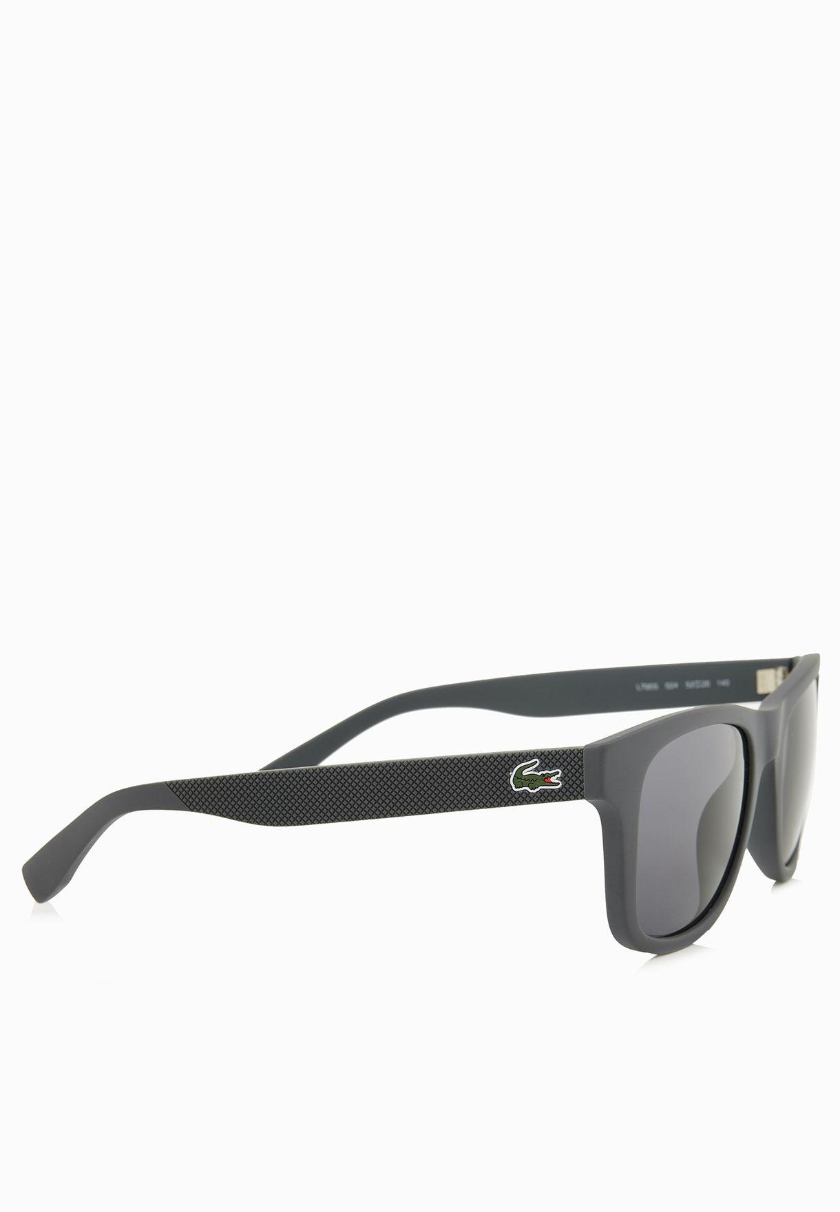 84261bb96b9 Shop Lacoste grey Petit Pique  Rectangle Sunglasses L790S-024 for ...